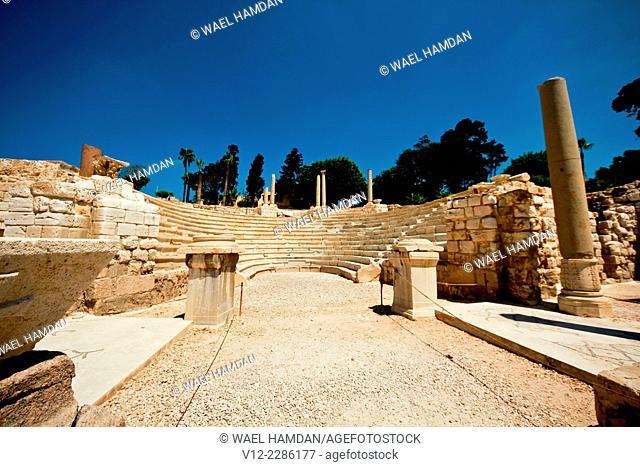 The Roman theater of Kom El-Dika, Alexandria. Egypt