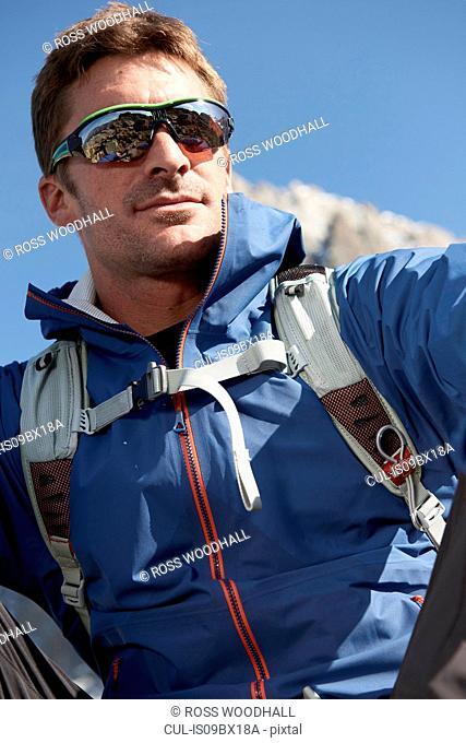Portrait of mountain climber