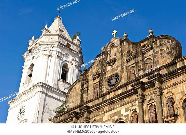 Panama, Panama City, historic town listed as World Heritage by UNESCO, Casco Antiguo, Barrio San Felipe, the cathedral of the XVIIth century
