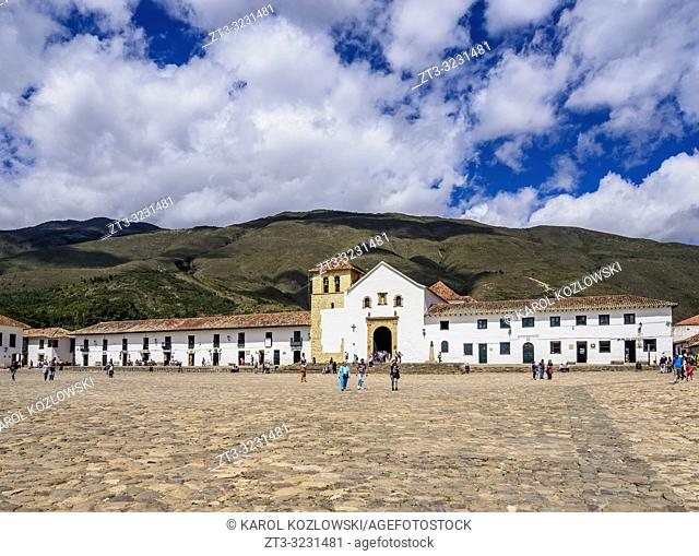 Our Lady of the Rosary Church, Plaza Mayor, Villa de Leyva, Boyaca Department, Colombia