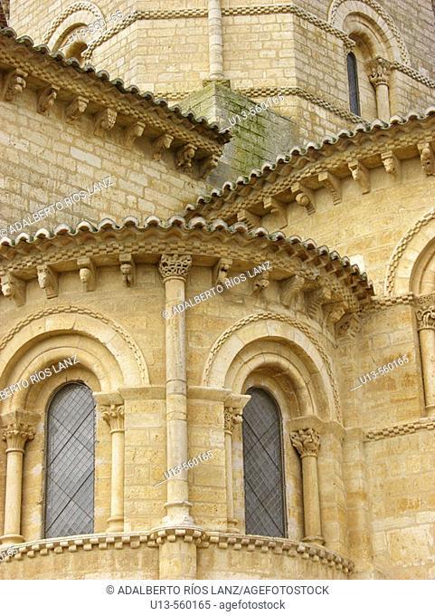 Detail Of The Catholic Romanesque Church Of San Martín De Fromista Palencia Castilla y Leon Spain