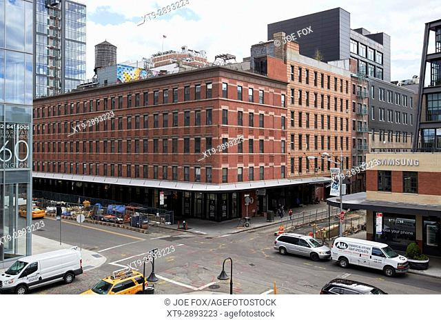 queen anne style mercantile building on washington street meatpacking district New York City USA