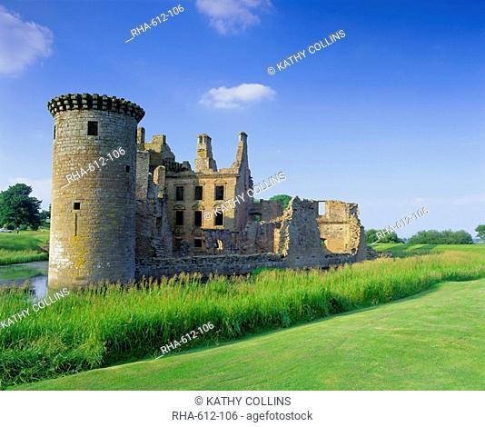 Caelaverock Castle, Dumfries and Galloway, Scotland, UK, Europe