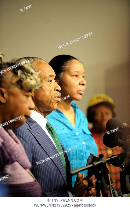 Rev Al Sharpton and Eric Garners family hold a press conference after NYPD cop is cleared in his death Featuring: Al Sharpton,Garner Family Where: Manhattan