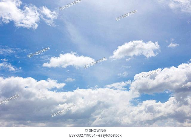 Beautiful sky with clouds for background