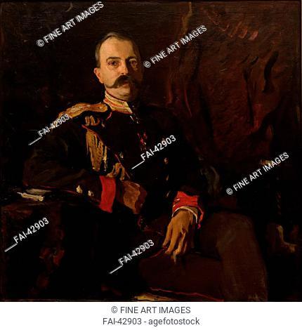 Portrait of Grand Duke George Mikhailovich of Russia (1863-1919) by Serov, Valentin Alexandrovich (1865-1911)/Oil on canvas/Realism/1901/Russia/State A