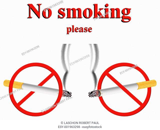 no smoking stylized signs