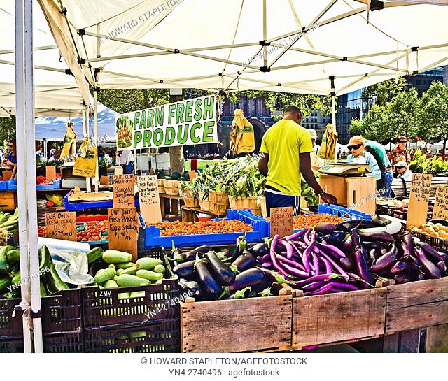 Farmer's market at Copley Square. Boston, Massachusetts