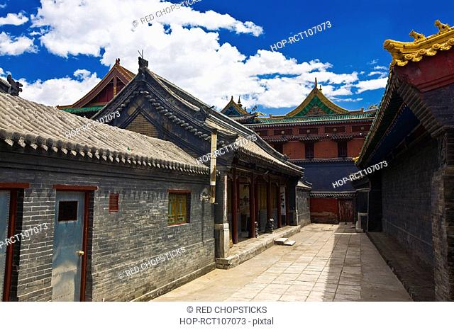 Houses in a street, HohHot, Inner Mongolia, China