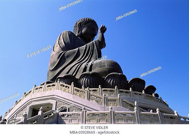 China, Hong Kong, Lantau Island, Ngong Ping plateau, Po Lin Monastery, Tian Tan buddha, Asia, East-Asia, Island, cloister, cloister-terrains, belief, religion