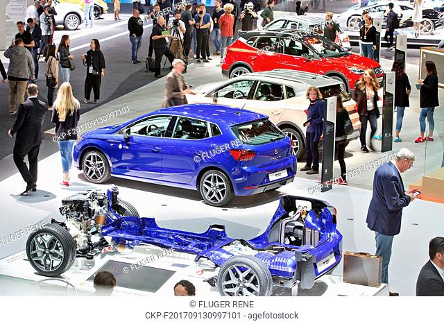 Cut of Seat Ibiza with TGI engine combining combustion engine with CNG module during the 67th International Motor Show (IAA) in Frankfurt, Germany, on Wednesday