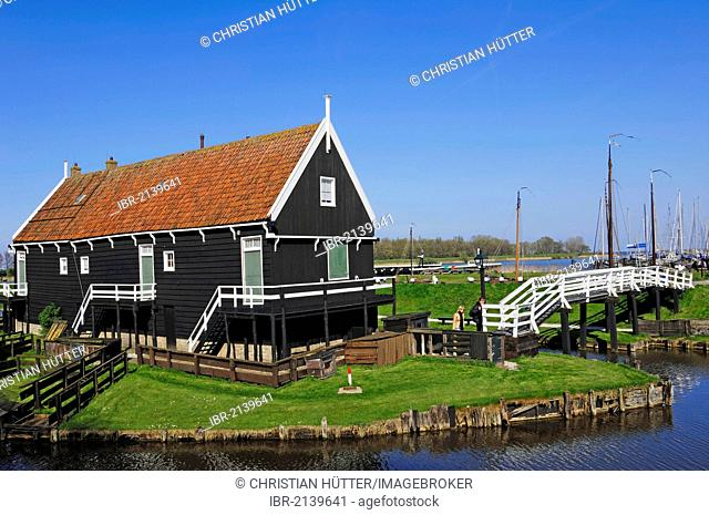 Fisherman's house at Zuiderzeemuseum, Enkhuizen, North Holland, Holland, Netherlands, Europe