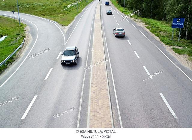 Traffic scene, Finland Europe