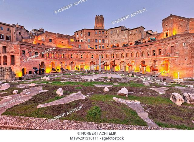 Architectural Column at Trajan's Market, Rome, Italy
