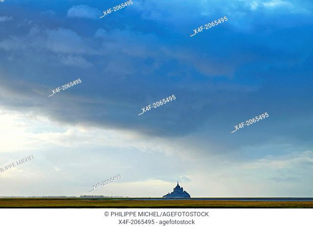 France, Manche (50), Mont-Saint-Michel bay, UNESCO world heritage, lMont-Saint-Michel