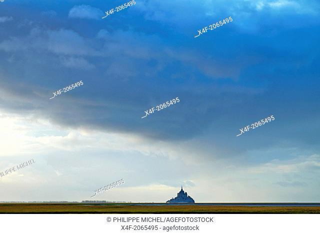 France, Manche (50), Mont-Saint-Michel bay, UNESCO world heritage, lMont-Saint-Michel