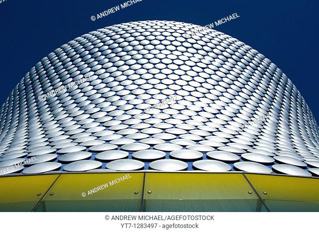 Abstract shapes of the modern Selfridges building in Birmingham, England