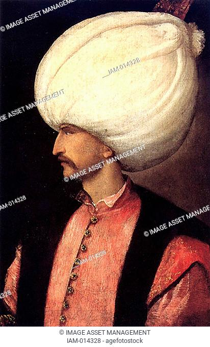 Suleiman I 1494-1566 Sultan of the Ottoman Empire from 1520, known in the West as Suleiman the Magnificent and in the East as the Lawmaker