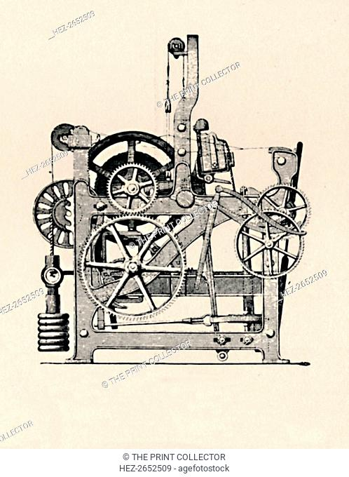 'Power Loom (Side View)', 1836, (1904). From Social England, Volume V, edited by H.D. Traill, D.C.L. and J. S. Mann, M.A