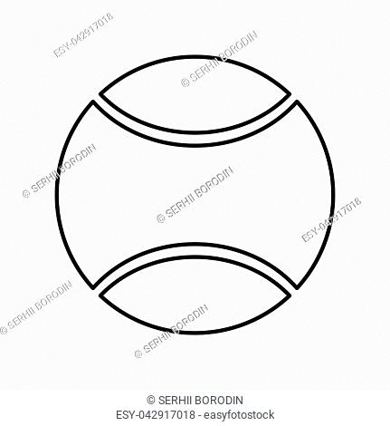 Tennis ball it is black color icon