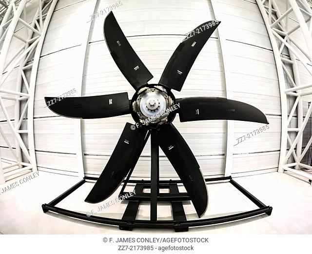 A large aircraft propeller