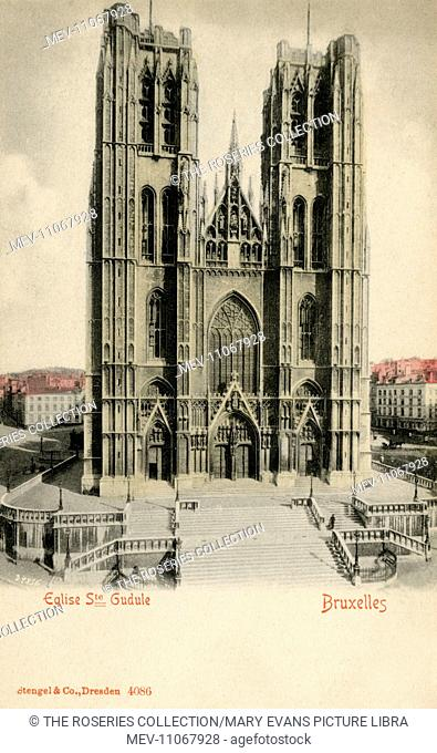 Cathedral of Saint Michael and Saint Gudula, Brussels, Belgium. The Roman Catholic church was given Cathedral status in 1962