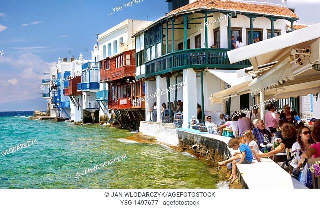 Little Venice, Mykonos, Cyklades, Greece