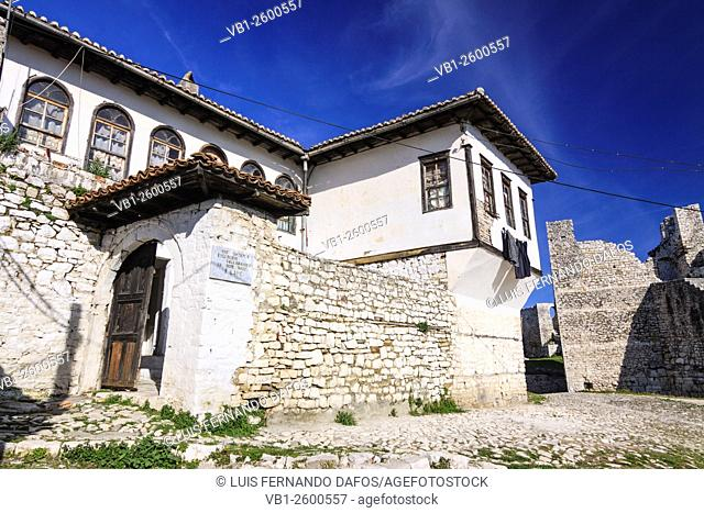 A traditional house in the Kala quarter inside the castle of Berat, Albania