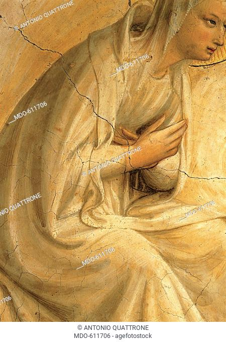 The Coronation of the Virgin, by Guido di Pietro (Piero) known as Beato Angelico, 1438 - 1446, 15th Century, curved fresco