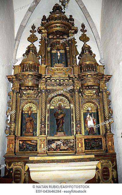 Altarpiece, Cadaques Church, Cadaques, Girona, Catalonia, Spain