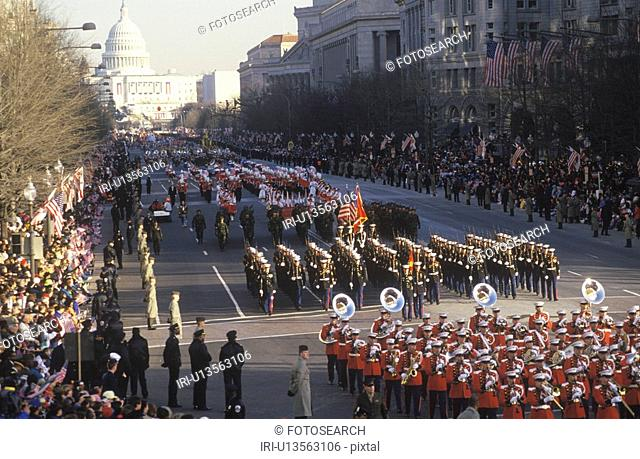 Inaugural Parade down Pennsylvania Avenue