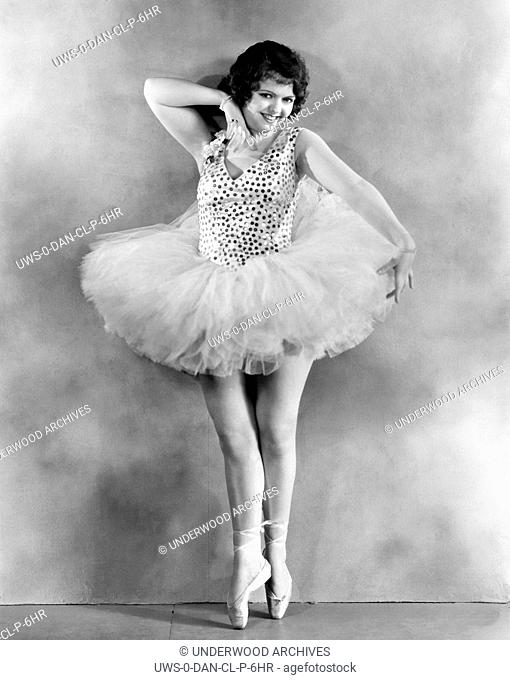 Hollywood, California: 1929.Actress Sally Starr shows her Broadway dancing form
