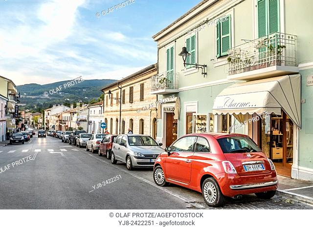 Old town of Sirolo, Marche, Italy