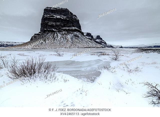 Lómagnúpur mountain. Iceland