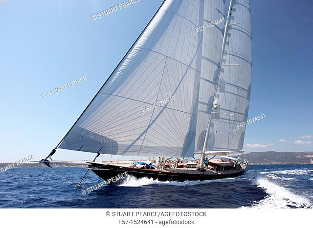 This is us at the Superyacht Cup in Palma de Mallorca, Spain