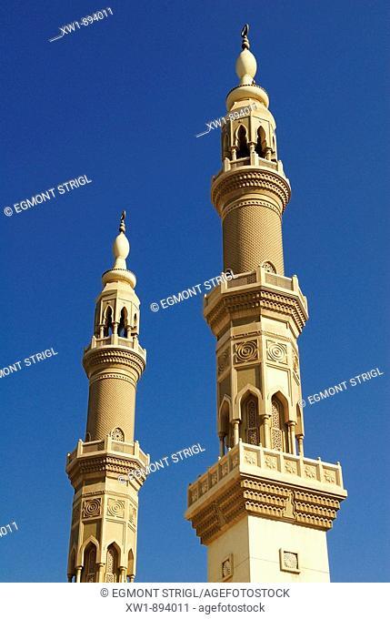 new, modern mosque, Emirate Sharjah, United Arab Emirates, UAE, Arabia, Middle East, West Asia