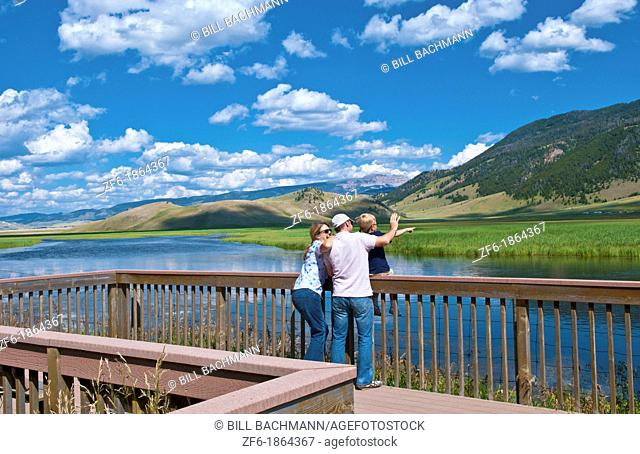 Jackson Hole Wyoming with National Elk Refuse with great views in Jackson and couple enjoying view