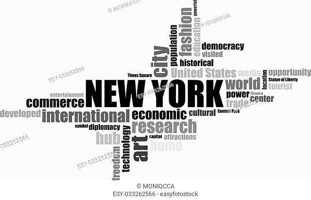 new York EEUU lettering illustration
