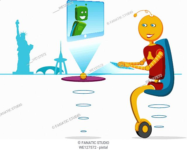 Robot chatting online