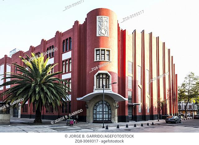 Fronton Mexico Building, Plaza de la Republica, CDMX, Mexico City