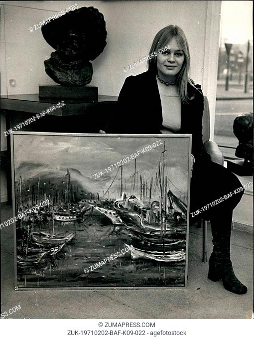 Feb. 02, 1971 - Art Exhibition At The London Hilton Gallery: An exhibition of sculputure by Count Maurice Roscini, and paintings by Celia Perceval and Mary...