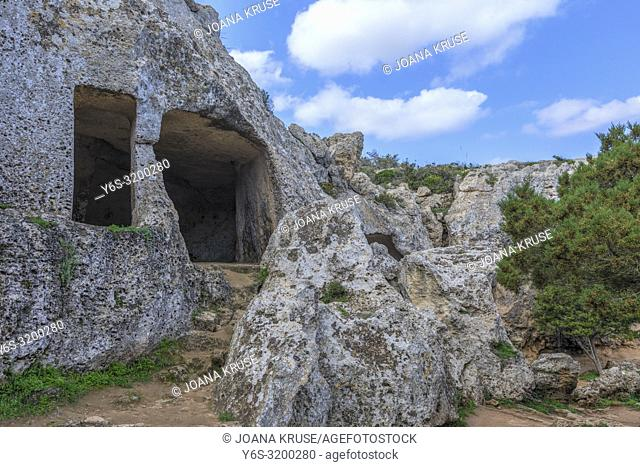 Necropolis Cala Morell, Menorca, Balearic Islands, Spain, Europe