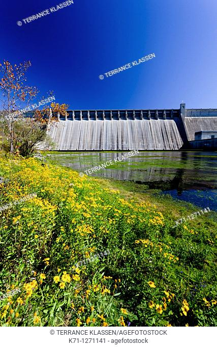 The Bull shoals Dam hydroelectric project in Arkansas, USA