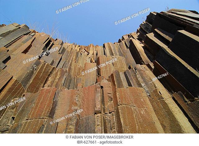 Basalt organ pipes (basalt columns), Twyfelfontein, Namibia, Africa