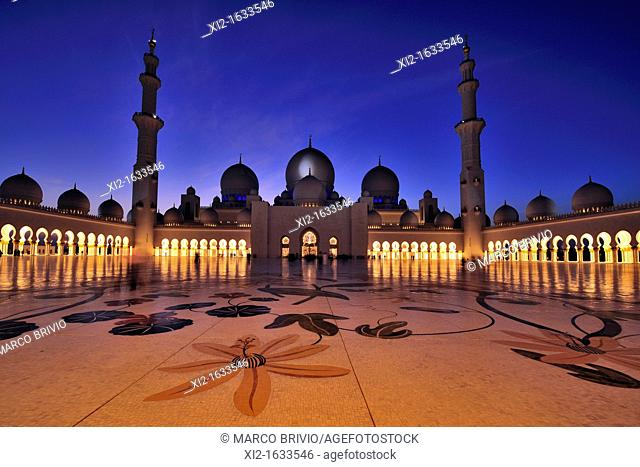 Abu Dhabi, United Arab Emirates  The majestic Sheikh Zayed Grand Mosque is probably the most imposing religious and national landmark in Abu Dhabi to date  It...
