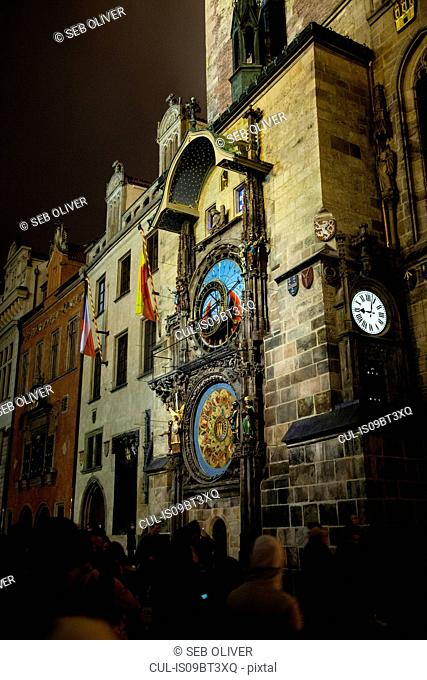 Astronomical Clock and tower, Old Town Square, Prague, Czech Republic
