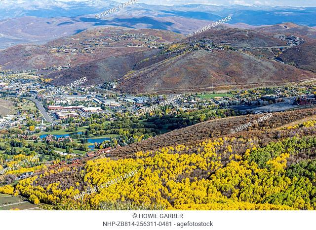 Park City Utah as seen from Iron Canyon