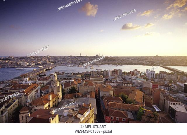 Istanbul, View from the Galata Tower, Turkey