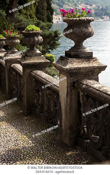 Italy, Lombardy, Lakes Region, Lake Como, Varenna, Villa Monastero, gardens and lakefront