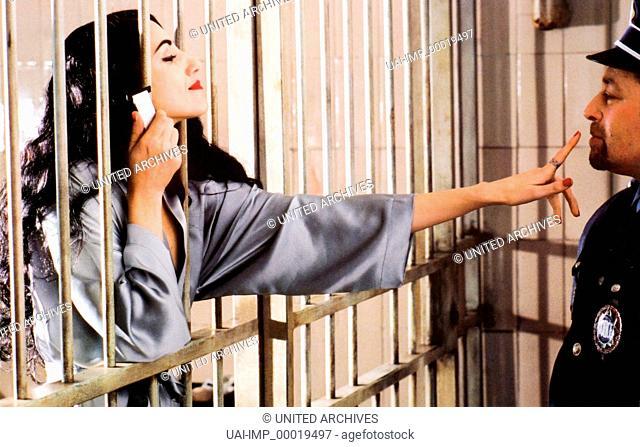 Garantiert französisch, (ORIGINE CONTROLEE) F 2000, Regie: Ahmed & Zakia Bouchaala, RONIT ELKABETZ, Key: Gefängnis, Zelle, Gitter, Inhaftierte, Verführung